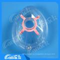 Einweg-medizinische Verbrauchsmaterialien PVC-Anästhesie-Maske mit Rückschlagventil