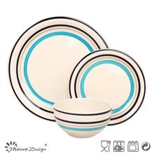 18PCS Fresh Handpainted Stoneware Dinner Set