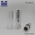 Fashion clear empty matte silver lipstick tube