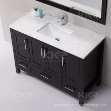 Italian design solid surface basin with vanity unit