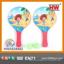 Самый популярный детский деревянный ракетный набор с мячами деревянная ракетка