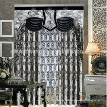 Custom made modern italian curtains black and white