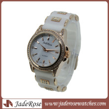 Hot Sell White Strap Ladies Quartz Silicone Watch