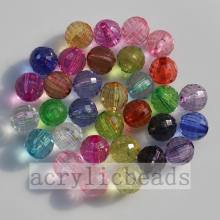 OEM Supplier for plastic round beads Clear 96 faceted cut round crystal global charming beads export to Guinea Factories