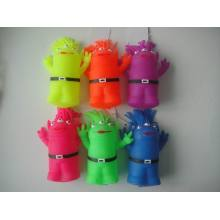 Three-eye Neon Color Puffer Aliens
