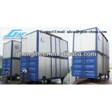 Unidade de pesagem e ensacamento em contêineres móveis
