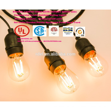SL-03 UL/CSA APPROVED STRING LIGHTS CORDS SETS CE GS SJTW 14/2 16/2