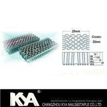 Гофрированные скобы серии W для изготовления мебели