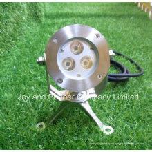 Luz subacuática del punto de 6W CREE LED con el soporte del acero inoxidable (JP95132)