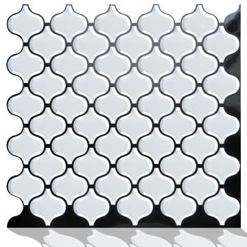 Transferências de telha de mosaico 3d auto-adesivas de vinil de luxo