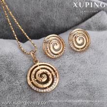 62598-Xuping barato joyería de oro de imitación de moda conjunto de joyería al por mayor
