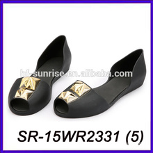 black fashion women jelly sandals wholesale jelly sandals plastic jelly shoes women