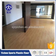 Yichen wood like pvc foam sports flooring gym flooring