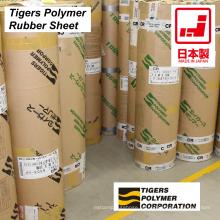 Hoja de goma de alta calidad hecha de diferentes plásticos por Tigers Polymer. Hecho en Japón (chapa revestida de goma)