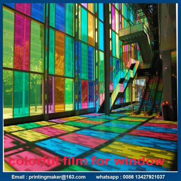 Self Adhesive Colorful Decorative Window Film