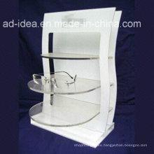 Soporte de acrílico modificado para requisitos particulares blanco caliente de la venta con el logotipo impreso