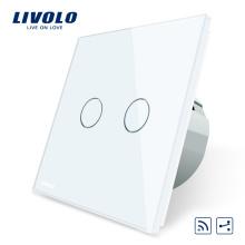 Livolo EU Standard Interrupteur À Distance 220 ~ 250 V Applique Murale Interrupteur Tactile À Distance 2 Voies VL-C702SR-11