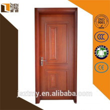 Top sale solid wood swing veneered carved wooden door