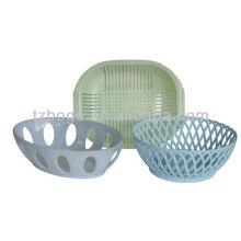 molde plástico da cesta de fruta