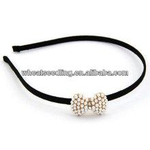 Модные лук галстук жемчужина Hairband аксессуары для волос для девочек HB17