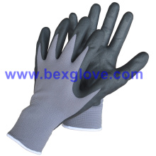 15gauge Nylon/Spandex Liner, Nitrile Coating, Micro-Foam Safety Gloves