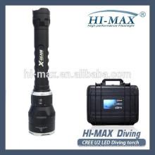 Haut-parleur magnétique en alliage d'aluminium à chaud 150m plongée IPX68 lampe torche de plongée