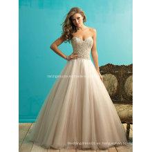 De alta calidad rebordear vestido de bola vestido de baile de la boda Brdial