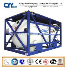 High Pressure Cryogenic Liquid Oxygen Nitrogen Argon ISO Tank Container