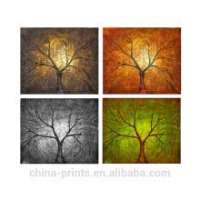Pintura al óleo hecha a mano contemporánea de los árboles de Comtemporary