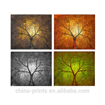 Comtemporary Handmade Abstract Trees Oil Painting