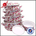 Graceful Cast Iron Enamel Cookware Set with Lid