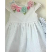 white flower girl's dress