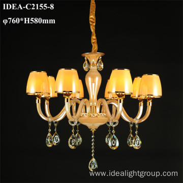 fashionable pendant candle chandelier crystal lighting