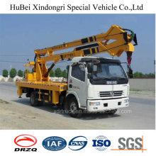 Modelo popular do caminhão da plataforma aérea de 18m Dongeng