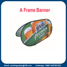 Tyg Horisontell Pop Up Display Banners
