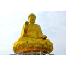 Im Freienqualitätsbronzemetallhandwerk setzte hohe Buddha-Statue