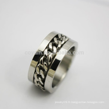 Guangdong Custom Stainless Steel Chain Ring pour hommes