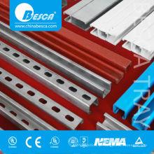 Canal de aço inoxidável Unistrut (UL, cUL, NEMA, IEC, CE, ISO)