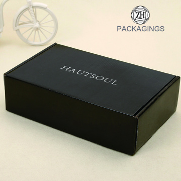 Black color glossy lamination bra mailing box
