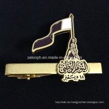 Barra de lazo de bandera personalizado oro para regalo de empresa