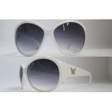 Óculos de sol de acetato e metal de moda P01038