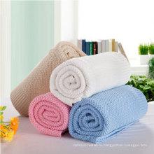 Супер мягкое одеяло для вязания хлопка для младенцев (DPFB8011)