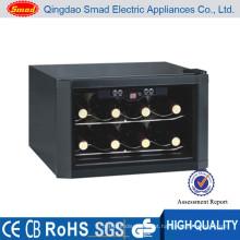 refrigerador horizontal do distribuidor do vinho da garrafa do agregado familiar 8 mini com congelação termoelétrico