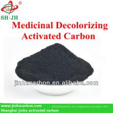Carbón activado a base de madera para farmacia