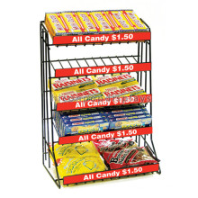 Retail Store Wholesale Counter Top 5-Tier Concession Stand Metal Chocolate Candy Display Stand