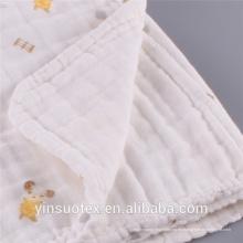 100% algodón impreso mousseline swaddle ropa manta de bebé swaddle