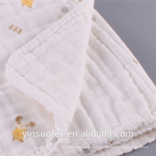100% cotton printed muslin swaddle clothes baby blanket swaddle