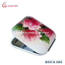 Hot Sale Printing Flower Square Makeup Mirror
