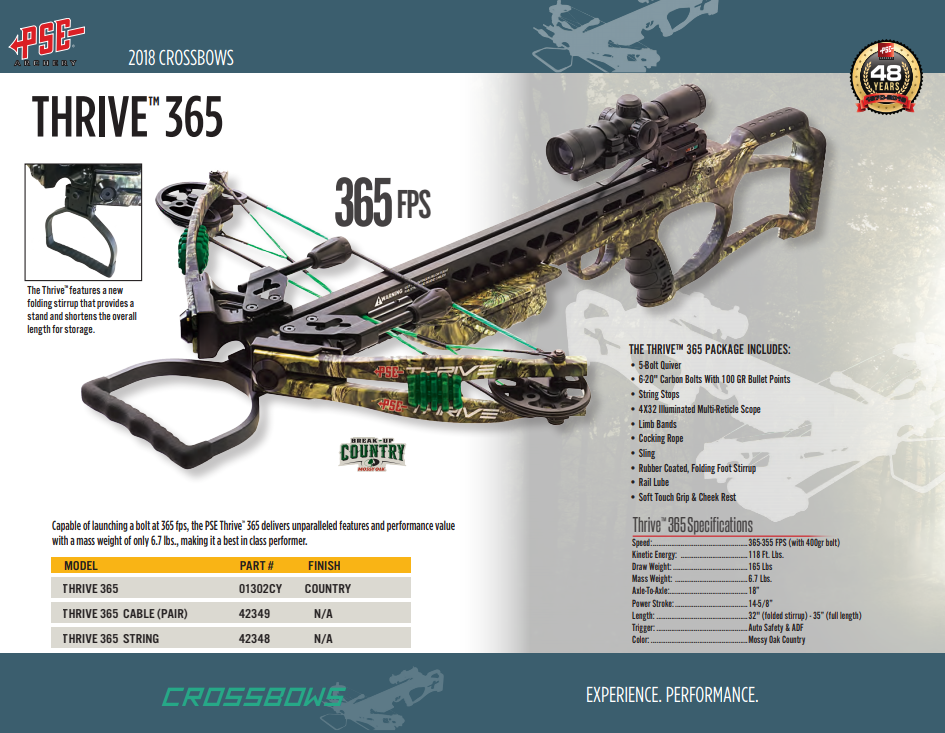 PSE - THRIVE 365 CROSSBOW - Bossgoo com
