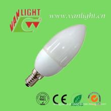 Vela forma CFL 11W (VLC-CDL-11W-T), lâmpada de poupança de energia